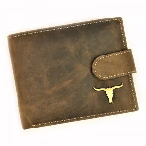 Pánská kožená peněženka Wild Buffalo Pedros - hnědá