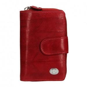 Dámská kožená peněženka DD Anekta Fancy - tmavě červená