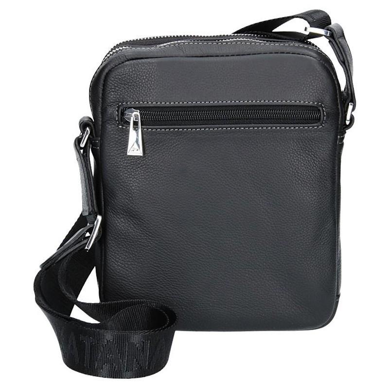 Pánská celokožená taška na doklady Katana Norbert - černá