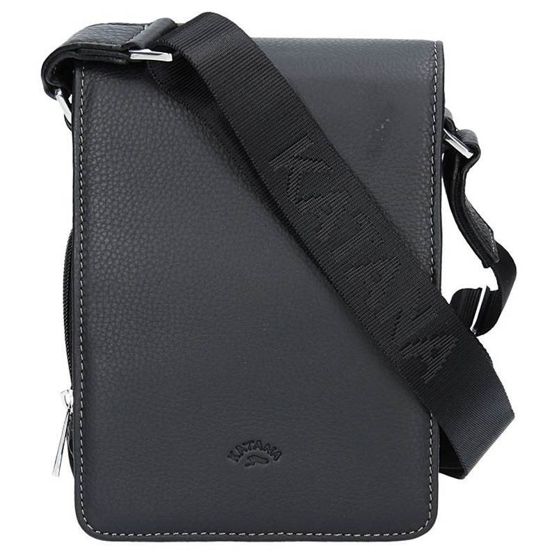 Pánská celokožená taška na doklady Katana Klope - černá b0d6e3e5ff