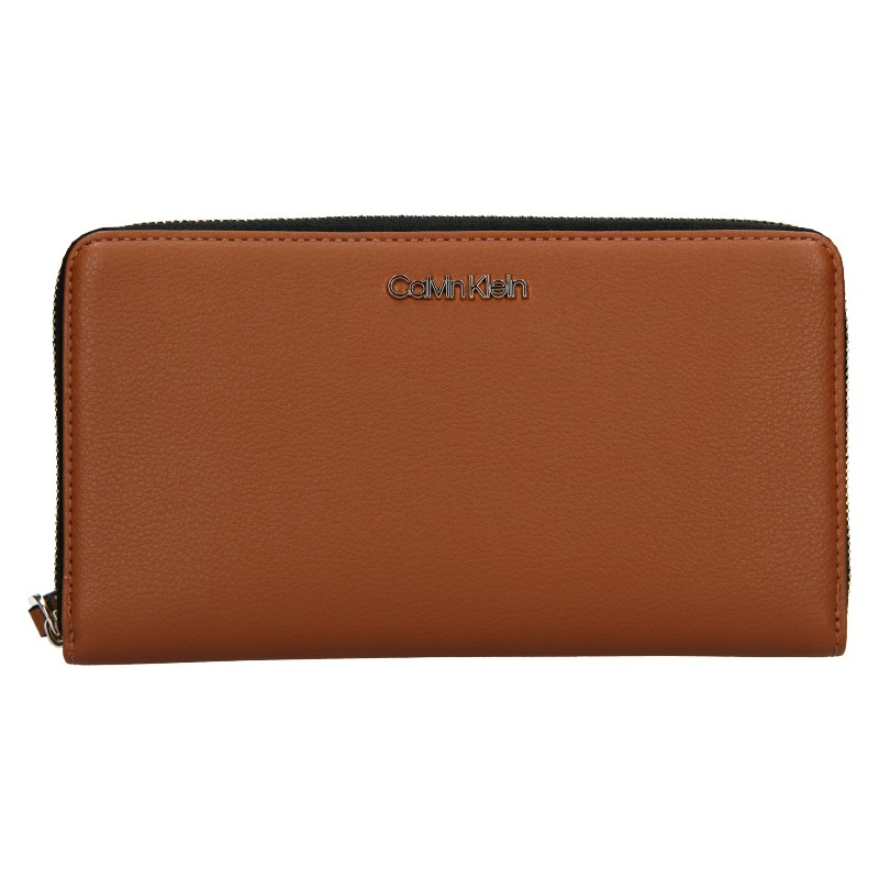 Dámská peněženka Calvin Klein Wallie - hnědá