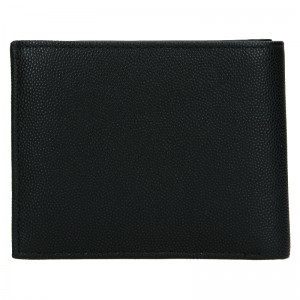 Pánská kožená peněženka Calvin Klein Brack - černá