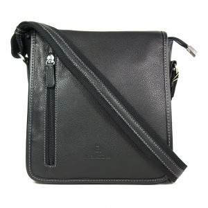 Pánská kožená taška přes rameno Hexagona 461326 - černá