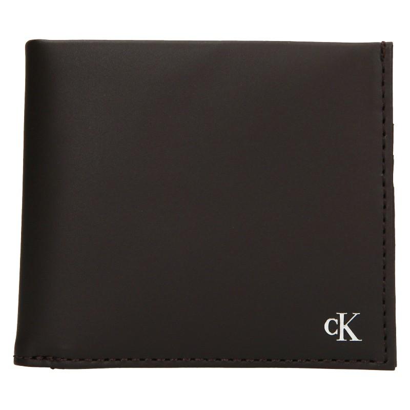 Pánská kožená peněženka Calvin Klein Bill - hnědá