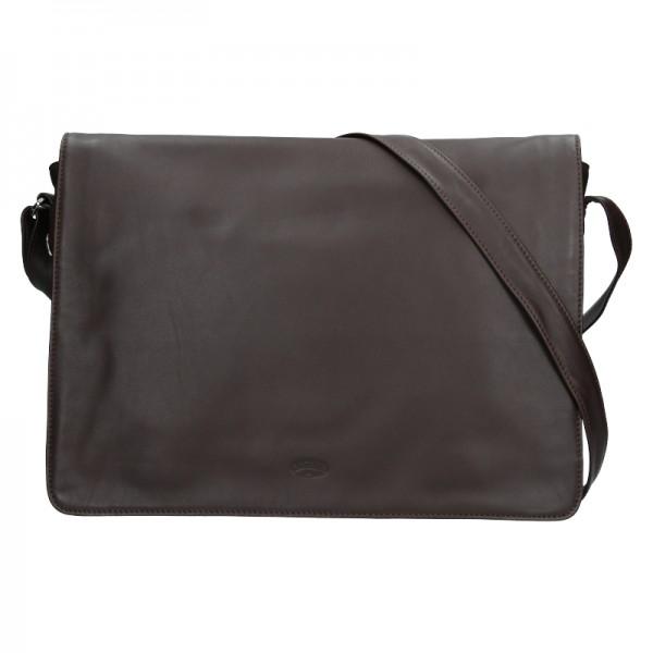 Pánská kožená taška přes rameno Katana Felipe - tmavě hnědá