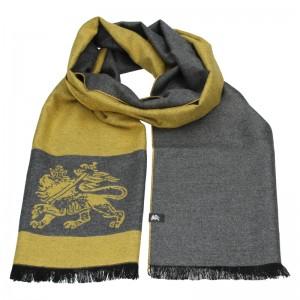 Elegantní pánská šála Lerros Grego - žluto-šedá