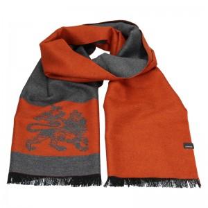 Elegantní pánská šála Lerros Grego - oranžovo-šedá