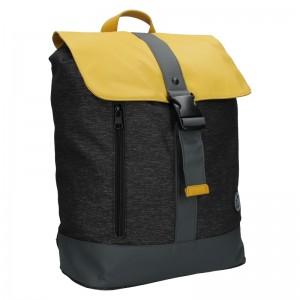 Pánský vintage batoh Lerros Alfred - černo-žlutá