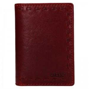 Dámská kožená peněženka Lagen Martinas - vínová