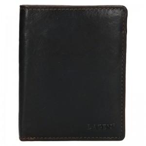 Pánská kožená peněženka Lagen Apolos - tmavě hnědá