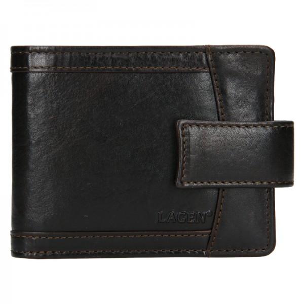 Pánská kožená peněženka Lagen Alsung - tmavě hnědá