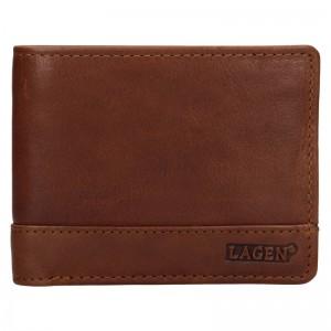 Pánská kožená peněženka Lagen Pavelos - hnědá