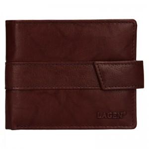 Pánská kožená peněženka Lagen Marian - hnědá