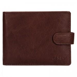 Pánská kožená peněženka Lagen Zdeno - hnědá