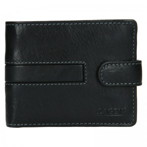 Pánská kožená peněženka Lagen Vander - černá