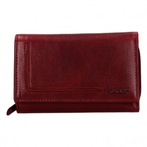 Dámská kožená peněženka Lagen Anitas - vínová