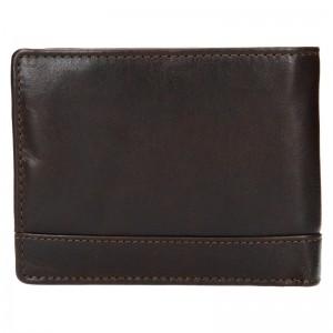Pánská kožená peněženka Lagen Dusans - tmavě hnědá