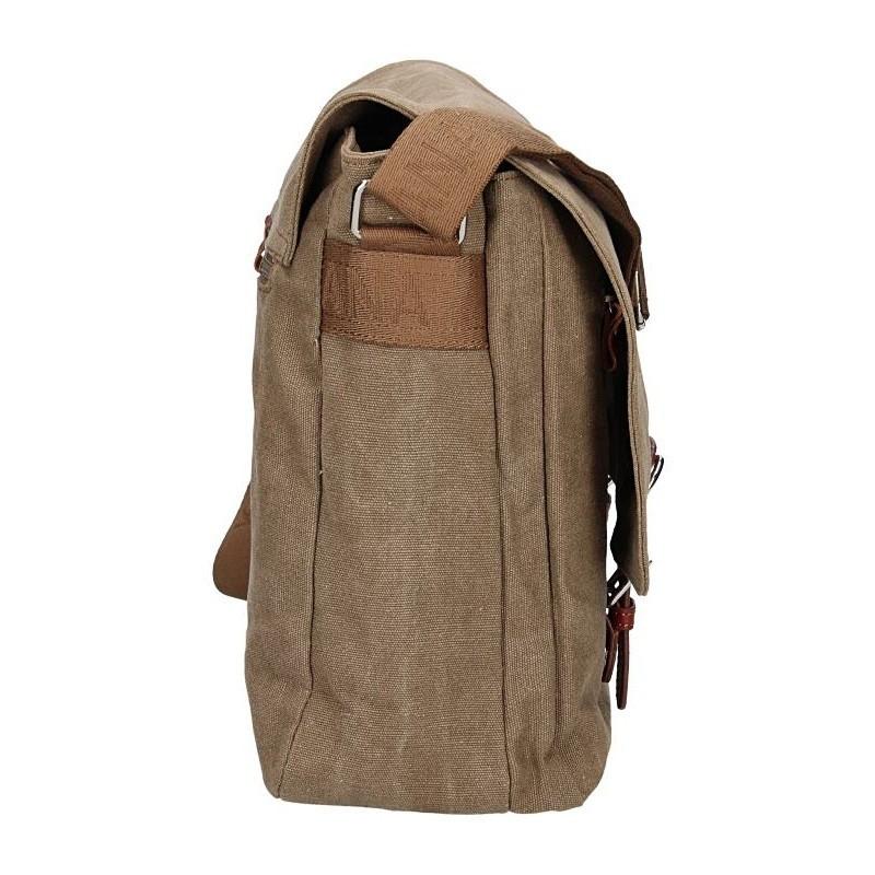 Pánská taška Katana Toile - světle hnědá