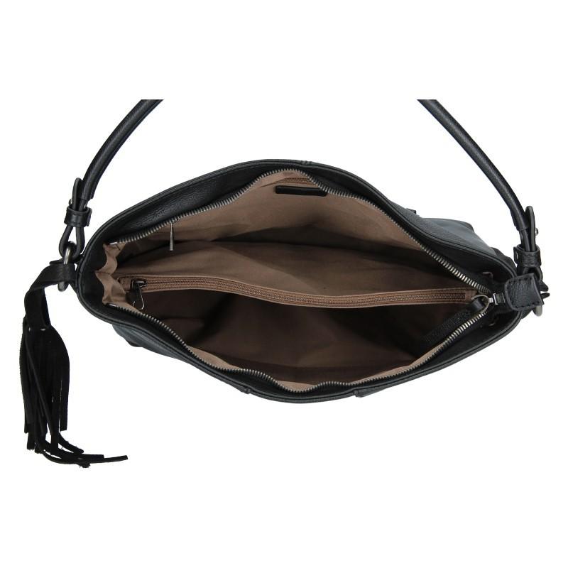Dámská kožená kabelka Hexagona Kamila - černá