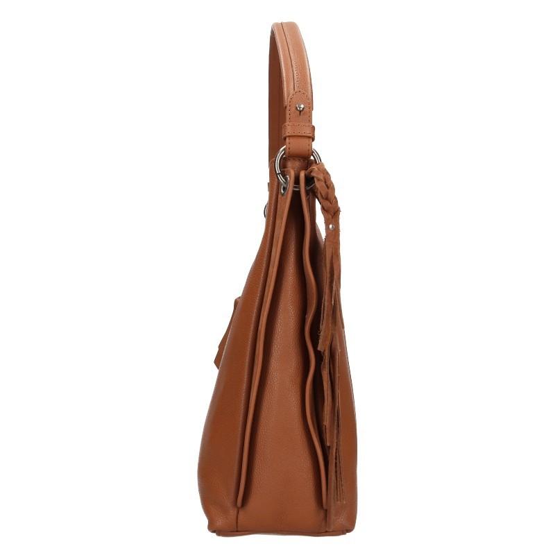 Dámská kožená kabelka Hexagona Kamila - hnědá