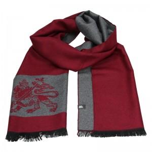 Elegantní pánská šála Lerros Grego - červeno-šedá