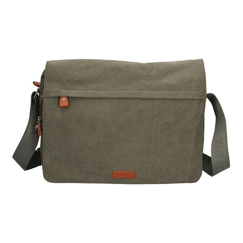Pánská taška Katana Borsek - zeleno-šedá