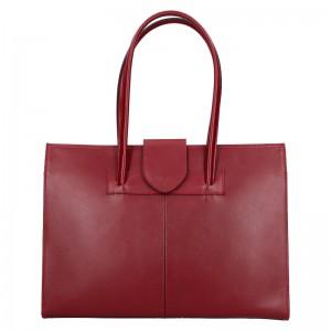 Dámská kožená kabelka Vera Pelle Sirela - tmavě červená