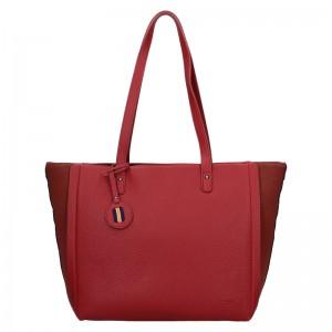 Dámská kabelka Hexagona Joanka - tmavě červená