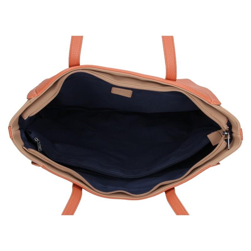 Dámská kabelka Hexagona Joanka - broskvová