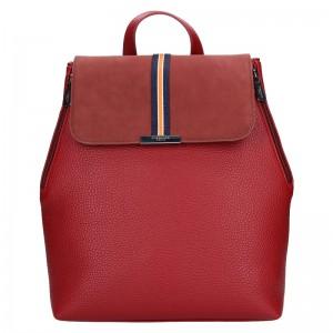 Elegantní dámský batoh Hexagona Lili - tmavě červená