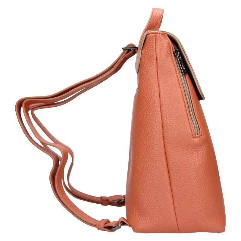 Elegantní dámský batoh Hexagona Lili - broskvová