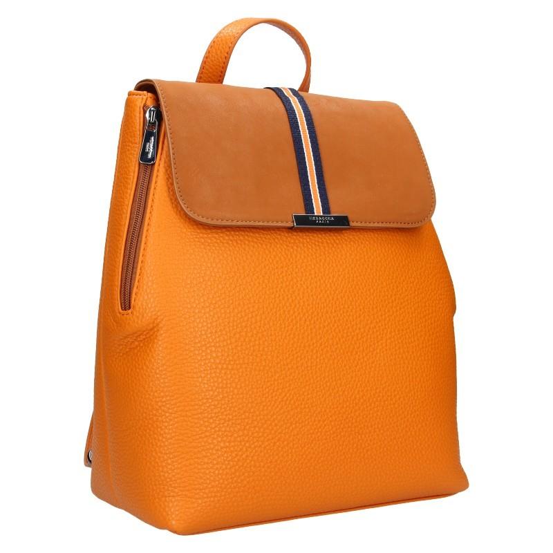 Elegantní dámský batoh Hexagona Lili - mandarinková
