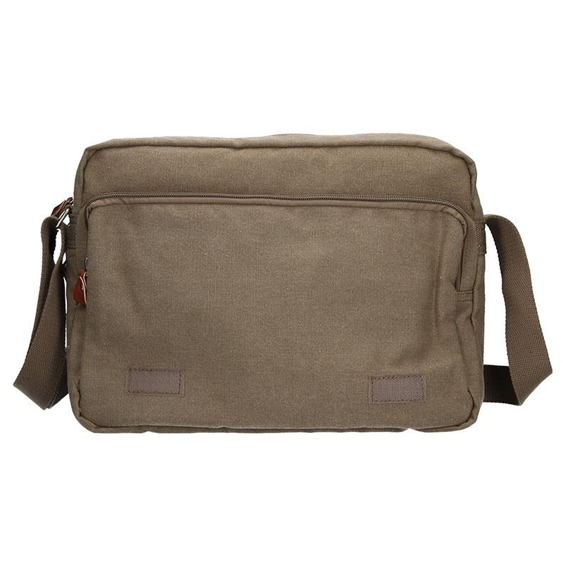 Pánská taška Katana Borsek - hnědo-zelená