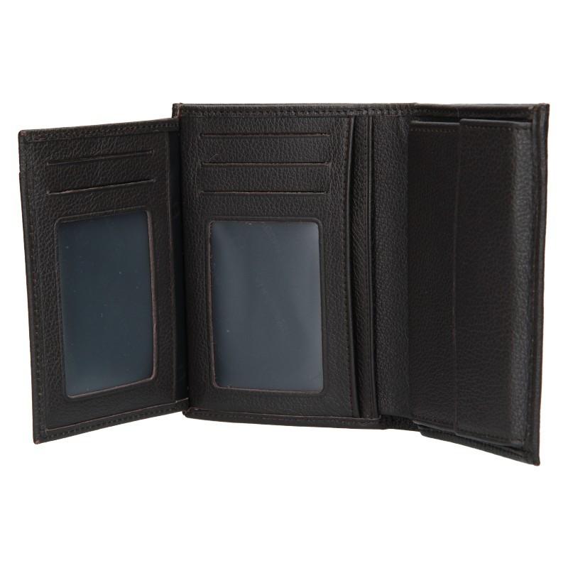 Pánská peněženka Hexagona Tibor - tmavě hnědá
