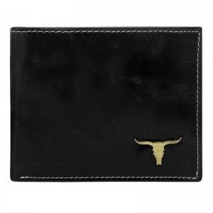 Pánská kožená peněženka Wild Buffalo Bohuš - černá