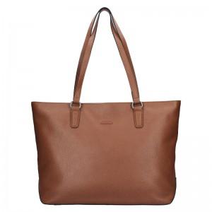 Elegantní dámská kožená kabelka Katana Argenta - starorůžová