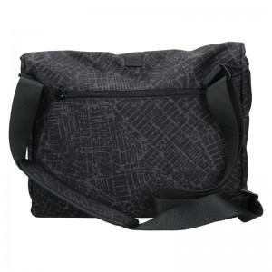 Pánská taška přes rameno Lerros Alexo - černo-šedá
