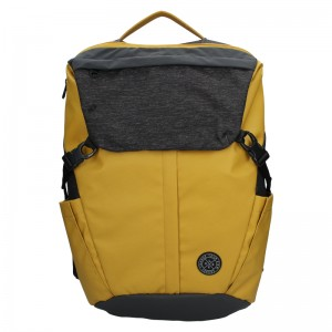 Pánský vintage batoh Lerros Matejs - černo-žlutá