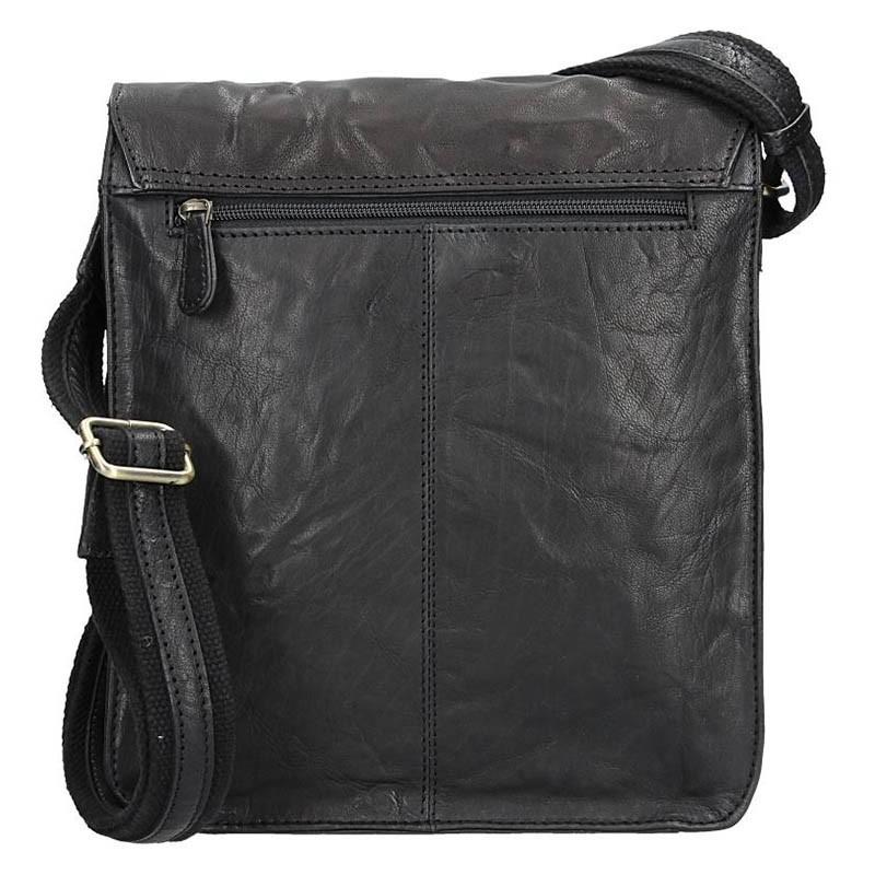 Pánská kožená taška přes rameno SendiDesign Ronald - černá