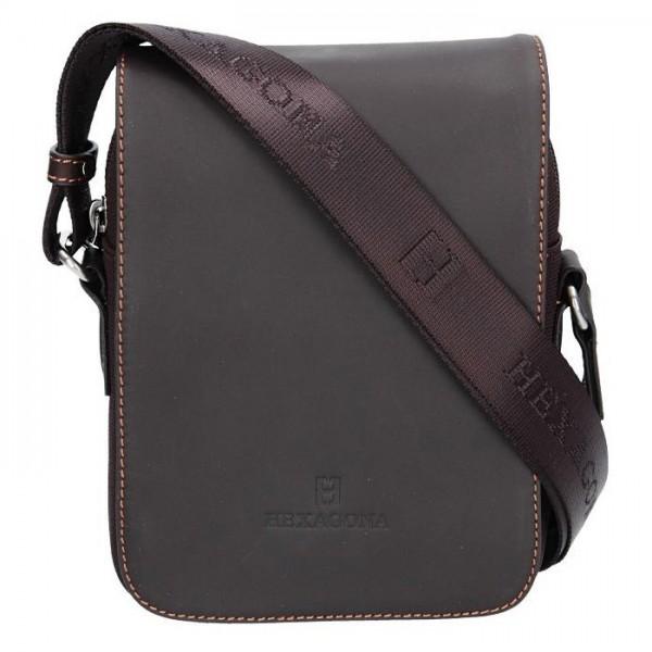 Pánská taška přes rameno Hexagona 299164 - hnědá