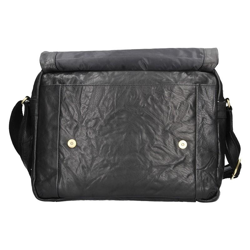 Pánská kožená taška přes rameno SendiDesign Boston - černá