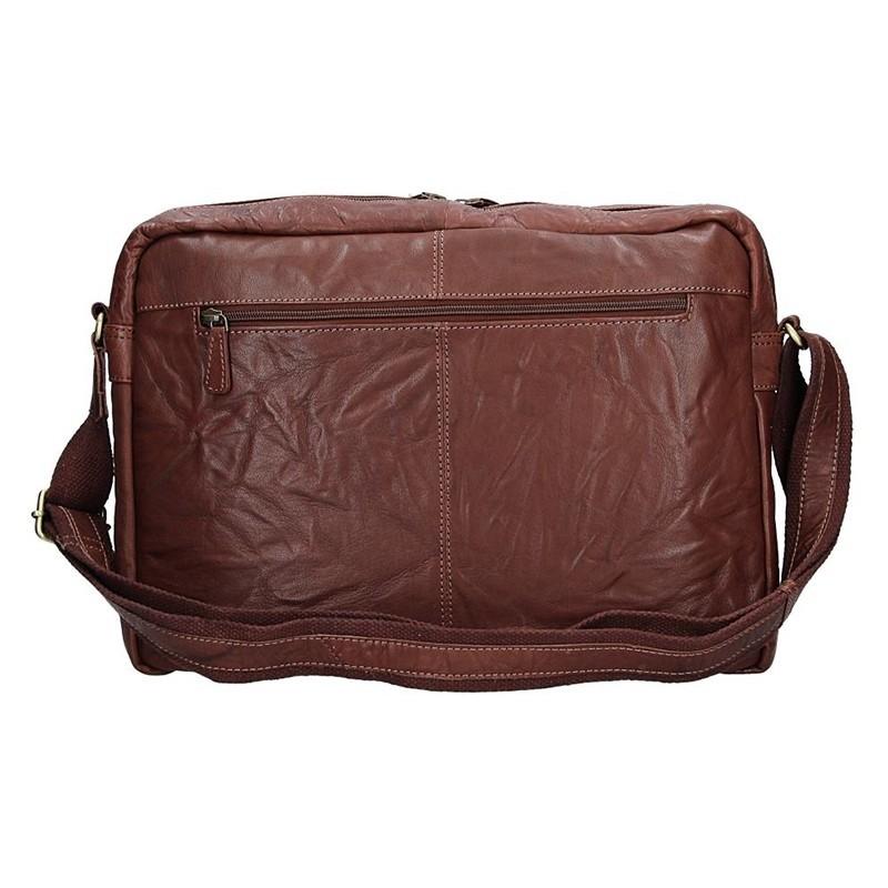Pánská kožená taška přes rameno SendiDesign Boston - tmavě hnědá