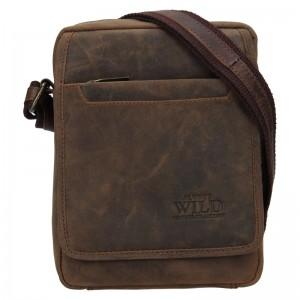 Pánská taška přes rameno Always Wild Loyd - hnědá