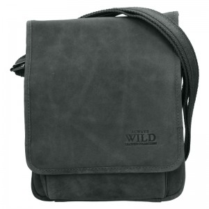 Pánská taška přes rameno Always Wild Fabio - černo-šedá