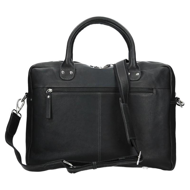 Pánská kožená taška SendiDesign Dante - černá