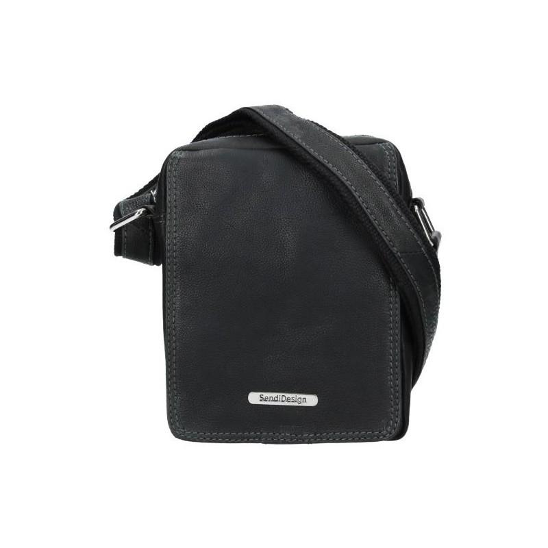Pánská kožená taška přes rameno SendiDesign Patrik - černá
