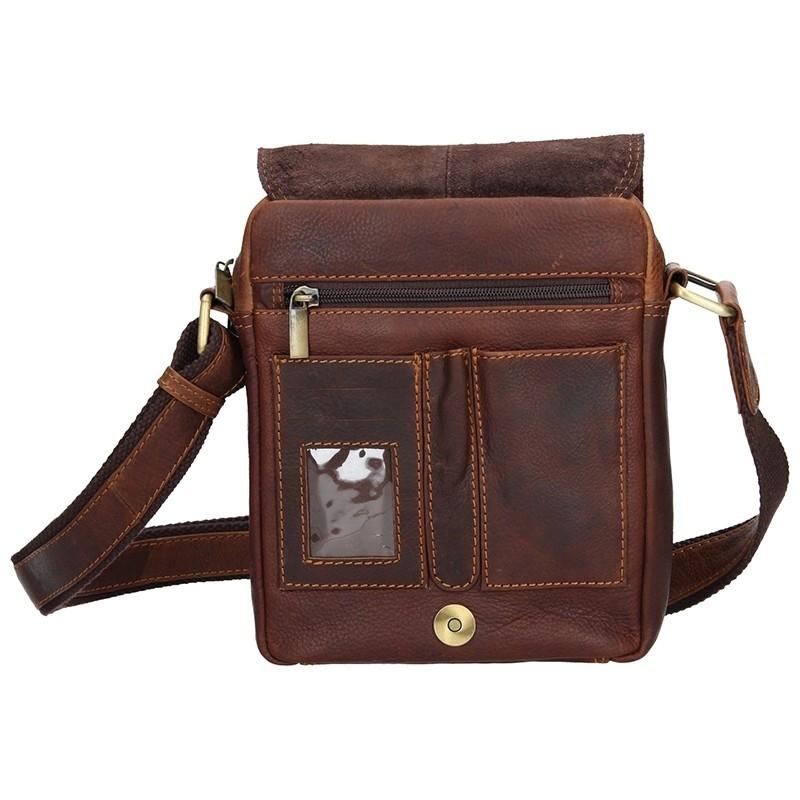 Pánská kožená taška přes rameno SendiDesign Patrik - hnědá