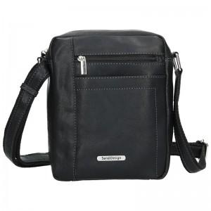 Pánská kožená taška přes rameno SendiDesign Marlon - černá