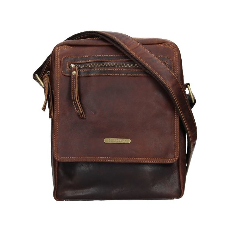 Pánská kožená taška přes rameno SendiDesign Trevor - hnědá