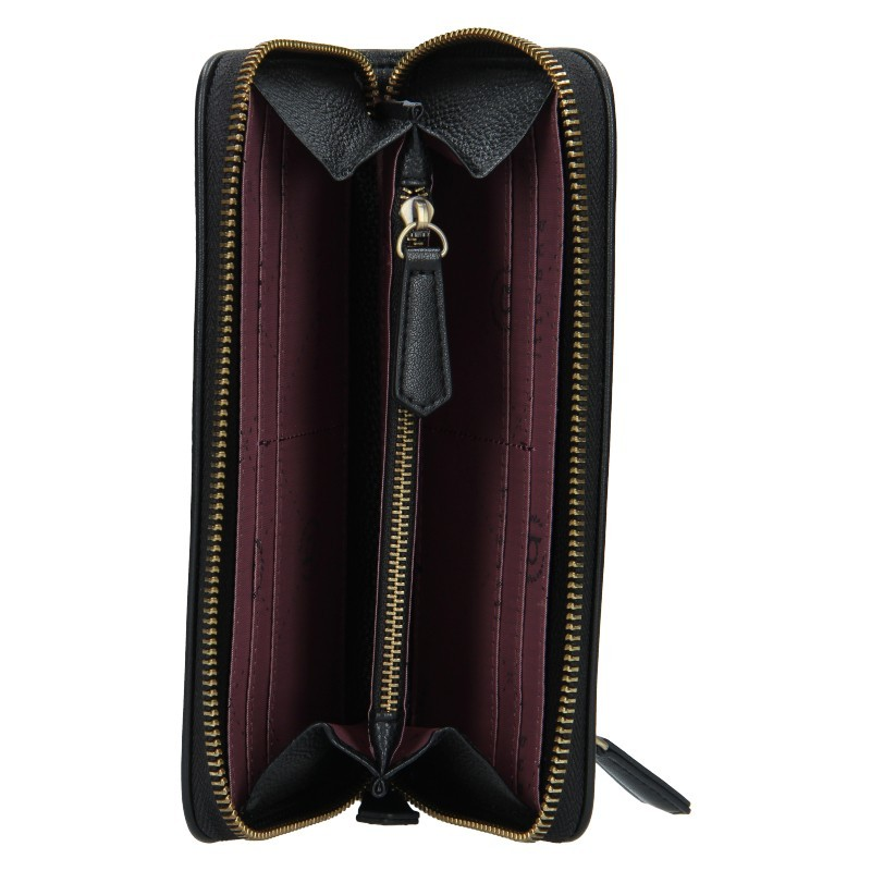 Dámská kožená peněženka Bugatti Alexis - černá